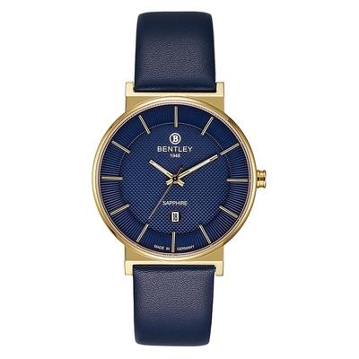 Bentley 賓利 ELITE系列 Gentle Glamour系列 簡約手錶-藍x金/40mm