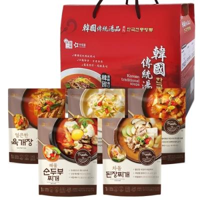 【韓味不二】韓國經典湯品禮盒(5入組)