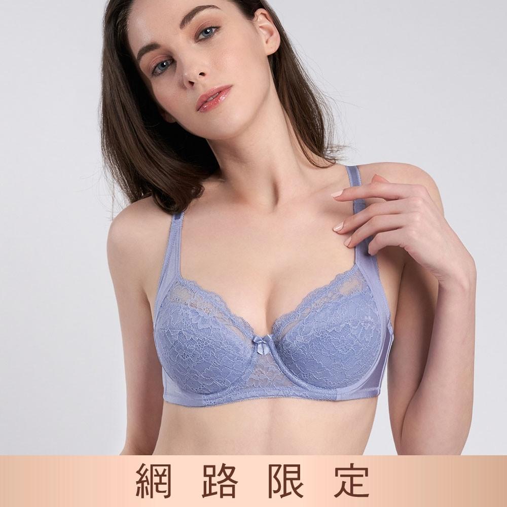 黛安芬-美型嚴選系列 包覆托高 B-E全罩杯內衣 紫藕色