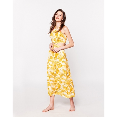 WAVE SHINE-渡假花卉美背綁帶洋裝-女【B5WF017】