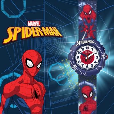 FlikFlak 兒童錶 SPIDER-MAN IN ACTION 蜘蛛人行動手錶
