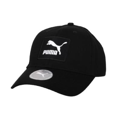 PUMA 流行系列織標LOGO棒球帽-鴨舌帽 遮陽 防曬 帽子 02277801 黑白