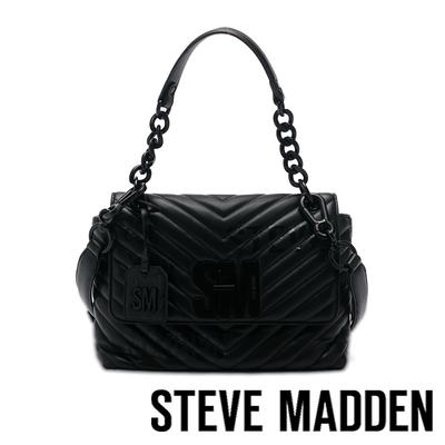 STEVE MADDEN-BPATRINA 斜壓紋信封大包-黑色