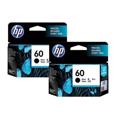 HP NO.60/CC640WA 黑色2支 原廠墨水匣