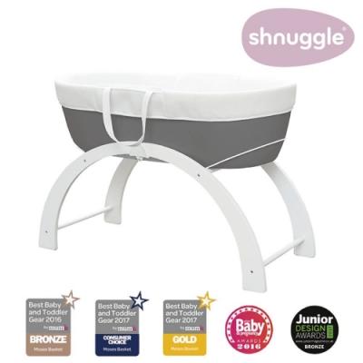 【英國Shnuggle】甜夢嬰兒床Dreami-星空黑(多功能移動式床邊床)