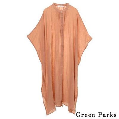 Green Parks 舒適印度棉長版上衣/罩衫