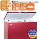 【Kolin 歌林】 300L上掀式冷凍櫃-冷藏冷凍二用冰櫃-棗紅色 KR-130F02 product thumbnail 1