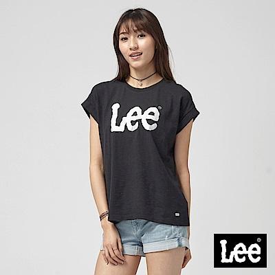 Lee 落肩LEE LOGO T恤/RG-落肩版-黑