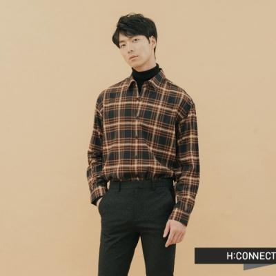 H:CONNECT 韓國品牌 男裝-亮彩格紋襯衫-藍