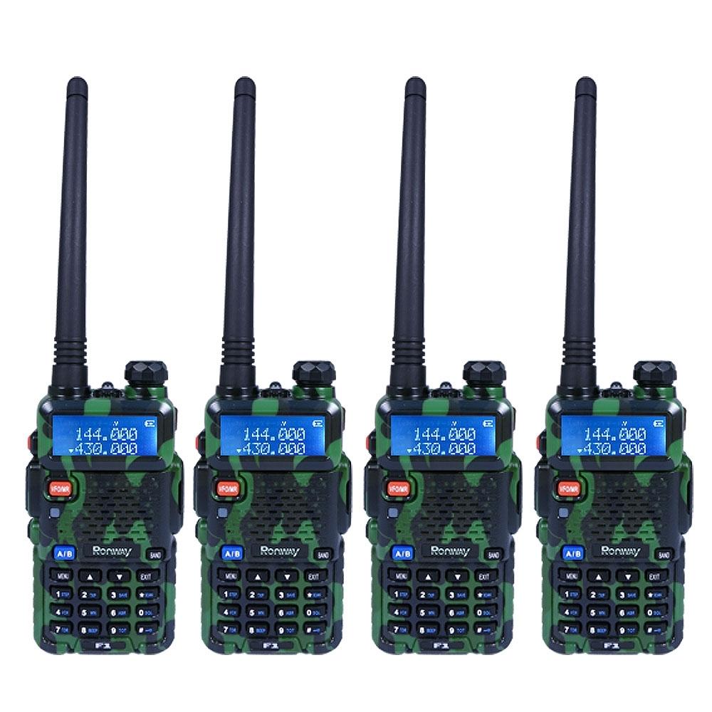【隆威】Ronway F2 黑幕版 VHF/UHF雙頻無線電對講機(4入組)