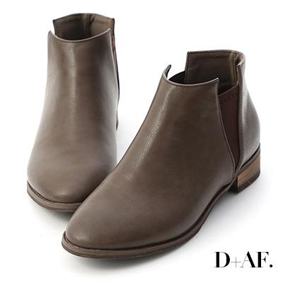 D+AF 自信新作.V字鬆緊切爾西短靴*咖