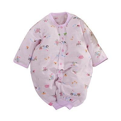 薄款純棉紗布兩用護手連身衣 b0175 魔法Baby