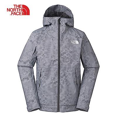 The North Face北面男款灰色防風防水衝鋒衣|3VPK9XY