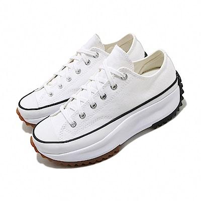 CONVERSE 帆布鞋 Run Star Hike 男女鞋 低筒 潮流 鋸齒鞋 厚底 星星 情侶 白 黑
