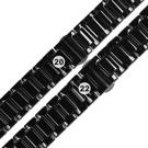 Watchband / 各品牌通用 亮麗陶瓷 快拆 蝴蝶扣 陶瓷錶帶 黑色