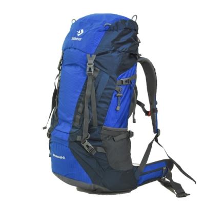 迪伯特DIBOTE 人體工學60+5L登山背包/登山包 (藍)