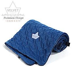La Millou Velvet頂級棉柔系列-標準款暖膚毯80x100cm(舒柔靛)