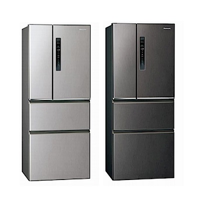 [館長推薦] Panasonic國際牌 500L 台灣製 一級能效變頻ECONAVI無邊框鋼板四門冰箱 NR-D500HV-L 絲紋灰