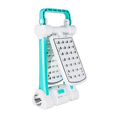 KINYO 多功能LED檯燈/露營燈/手電筒(CP-05)太陽能/AC