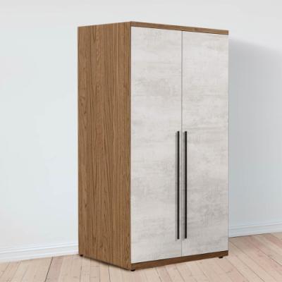 D&T 德泰傢俱 DINO清水模風格2.7尺雙吊衣櫃-80x57x202cm