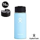 美國Hydro Flask 咖啡蓋寬口保冷 保溫鋼瓶473ml 西瓜紅