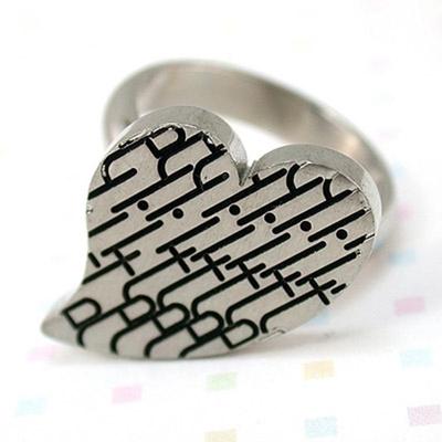 iSFairytale伊飾童話 幾何密碼鈦鋼戒指 尺寸可選