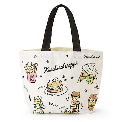 Sanrio 大眼蛙黑板塗鴉系列繽紛圖案帆布迷你提袋