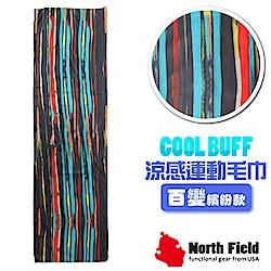 美國 North Field COOL BUFF 降溫速乾吸濕排汗涼感運動毛巾_藝術油彩