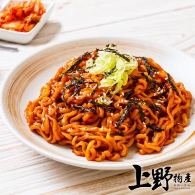 (任選999免運)【上野物產】韓式辣醬豬肉炒麵(300g±10%/麵體+醬料/包)x1包(年菜預購)