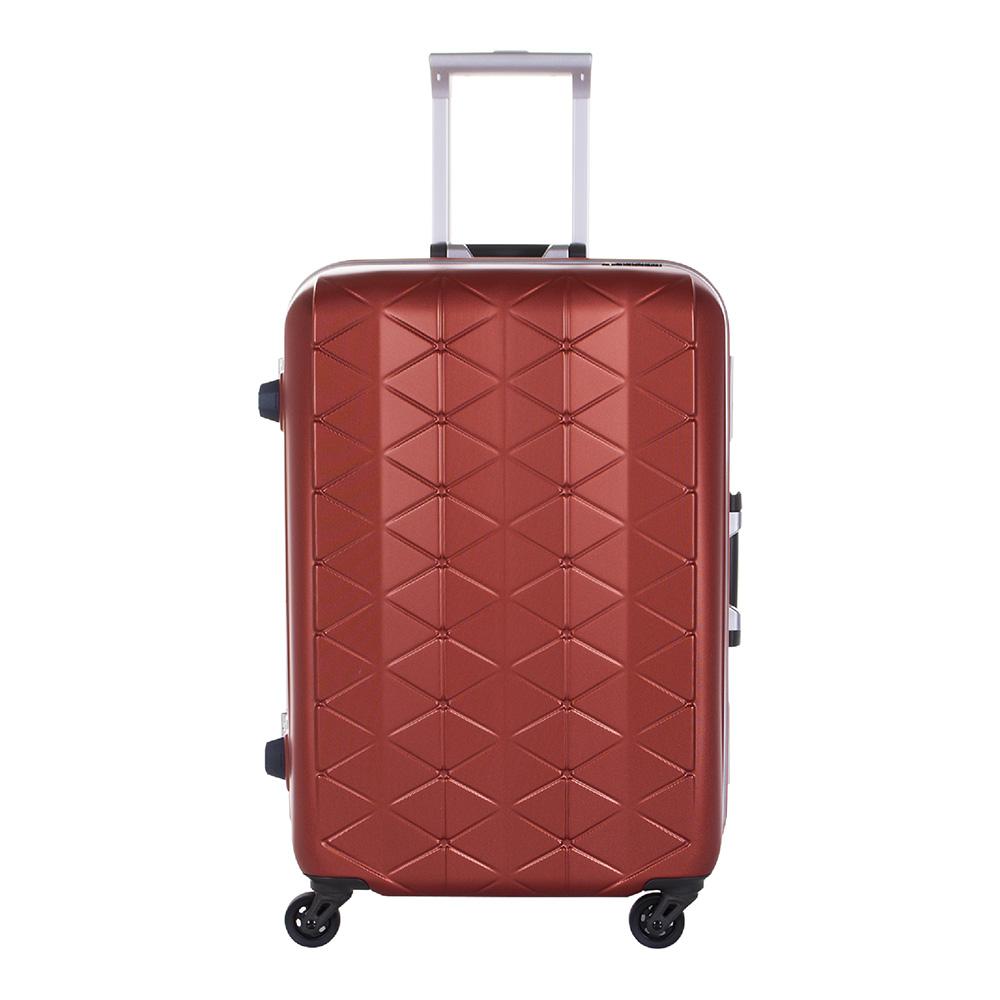 日本SUNCO 25吋 鎂合金框拉桿箱 桔色 最輕框架箱