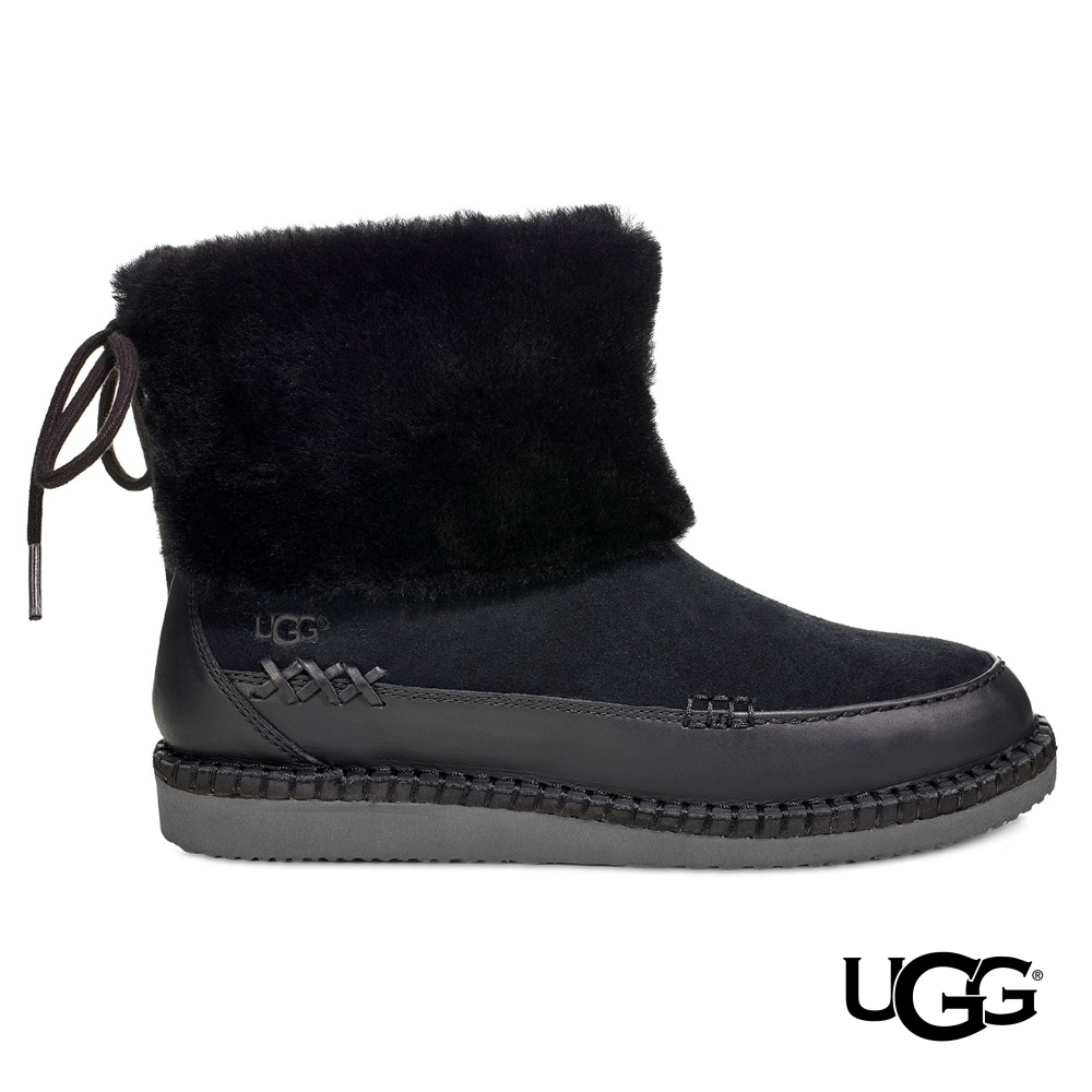 UGG雪靴 Quinlin 綁帶毛毛短靴 product image 1
