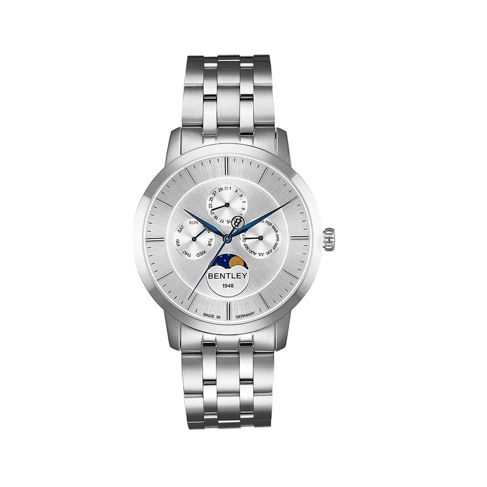 BENTLEY賓利 卓越系列 超越極限月相手錶-銀/40mm