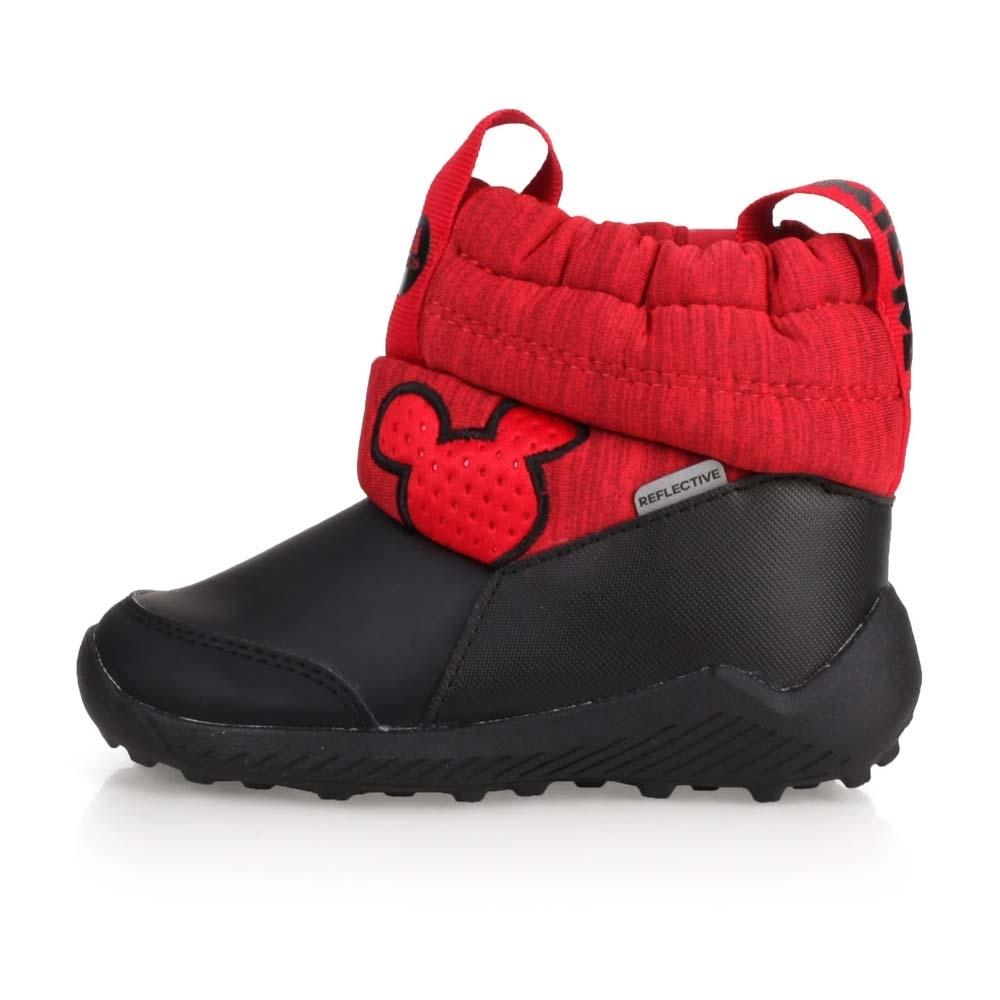 ADIDAS 小童保暖短筒靴 RapidaSnow Mickey I 黑紅