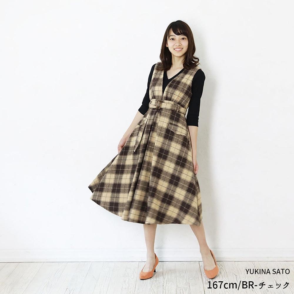 PrivateBeach 黑色白色格紋修身背心洋裝(共二色)
