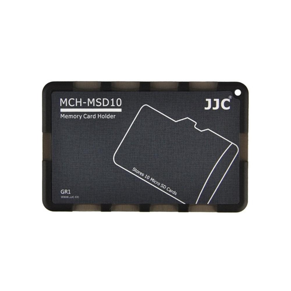 JJC名片型記憶卡盒Micro SD記憶卡儲存盒MCH-MSD10系列記憶卡收納盒(放10張Micro SD/SDHC/SDSC/TF/T-Flash)