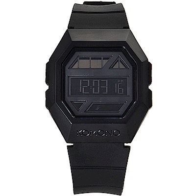 KOMONO Powergrid 腕錶-性格黑/40mm