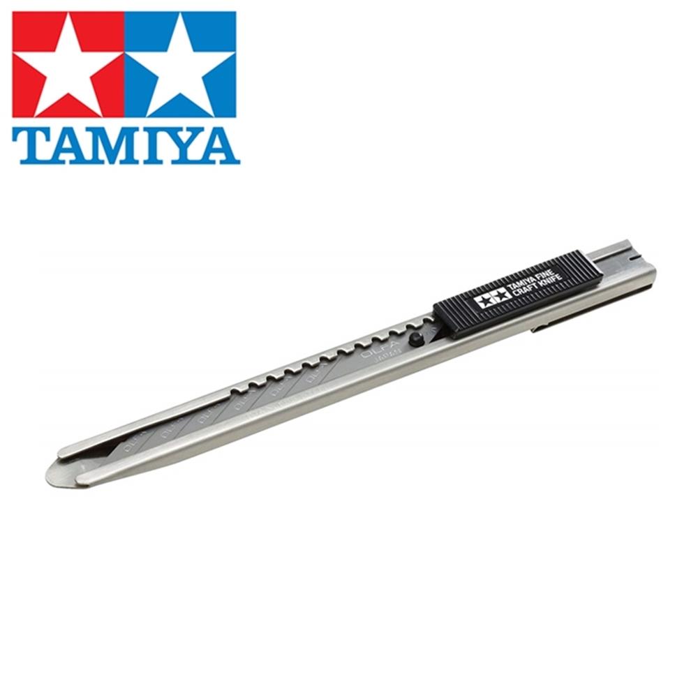 日本田宮TAMIYA折刃式30度銳角美工刀30°美工刀74053(附刀片)30度美工刀模型細工刀