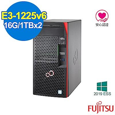 FUJITSU TX1310 M3 E3-1225v6/16G/1TBx2/2019ESS