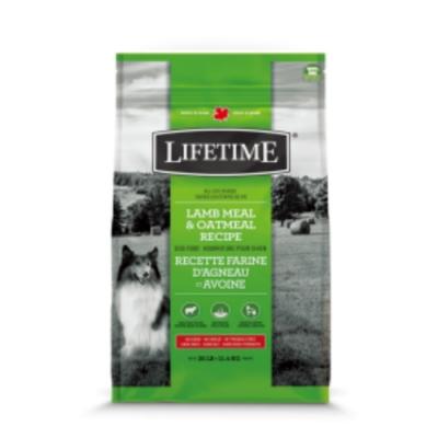 加拿大LIFETIME萊馥特-亮毛護膚配方 (羊肉+燕麥) 全齡犬 25LB/11.4KG (LTD7735)