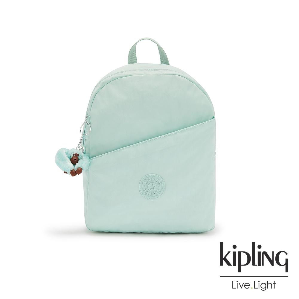 Kipling 清爽薄荷藍時尚好收納後背包-CORY