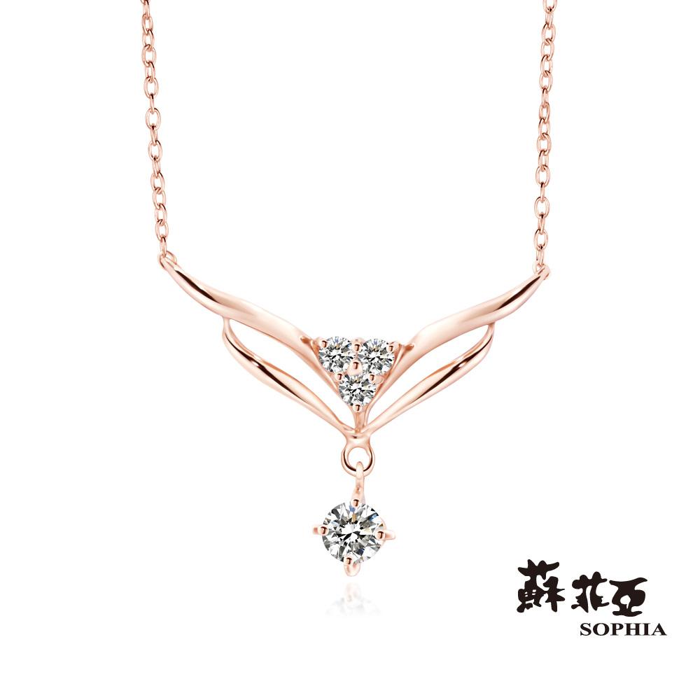 蘇菲亞SOPHIA - 輕珠寶系列維納斯0.15克拉玫瑰金鑽石套鏈