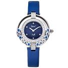 Ogival愛其華 流光瀲灩珠寶錶-藍 380-45DLW