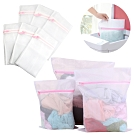 日本 洗衣袋大中小超值6入組合包-高級織品 寶寶衣物 護洗袋-贈熨衣隔熱墊kiret