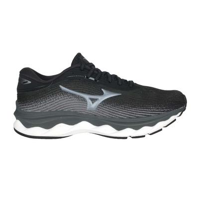MIZUNO WAVE SKY 5 WIDE 女慢跑鞋-4E- 寬楦 美津濃 J1GD211252 黑灰