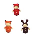 美國【Cheengoo】 有機竹紗寶貝安撫搖鈴(紅熊帽、咖啡兔、橘狐狸)