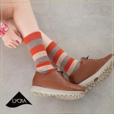 貝柔美國風萊卡休閒長襪-條紋(6色可選)