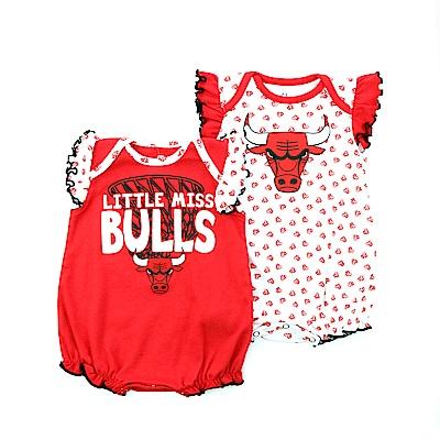 NBA 新生兒包屁衣二件組 公牛隊