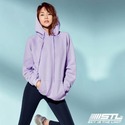 STL YOGA 韓國瑜珈 METRO HOODIE 運動休閒純色長版大連帽T 甜美紫SweetPurple