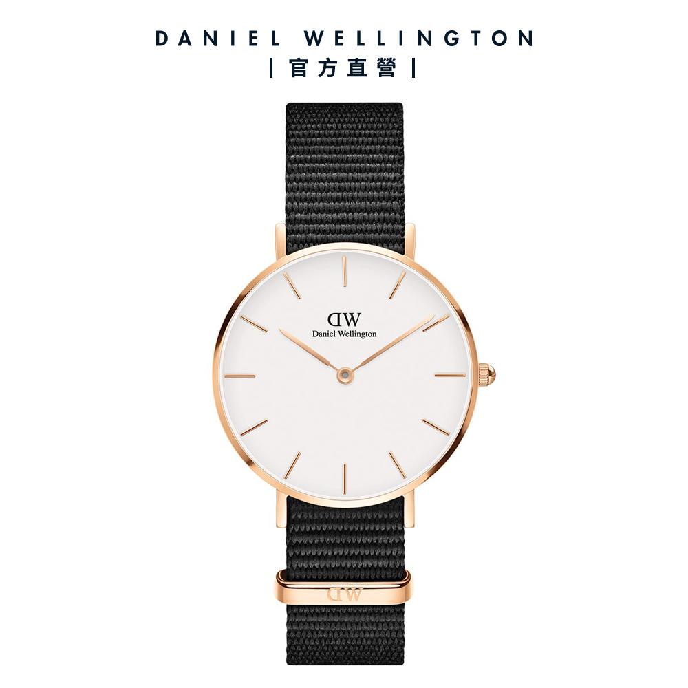 【Daniel Wellington】官方直營 Petite Cornwall 32mm寂靜黑織紋錶 DW手錶