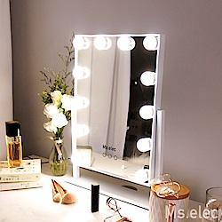 【Ms.elec米嬉樂】璀璨巨星燈泡化妝鏡 好萊塢鏡 燈泡鏡 三色補光
